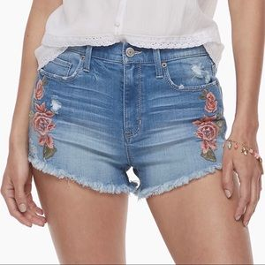 Mudd High Rise Floral Embroidered Cutoff Shorts 11